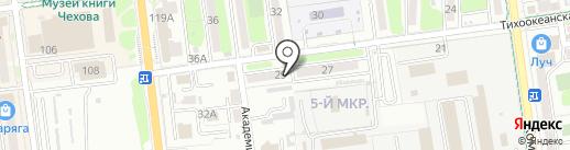 Печати5 на карте Южно-Сахалинска