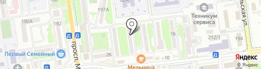 Кресов В.Г. на карте Южно-Сахалинска