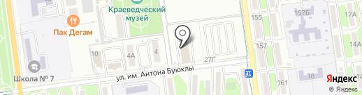 Добрый лис на карте Южно-Сахалинска