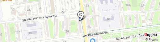 Клиника Кумачковых на карте Южно-Сахалинска
