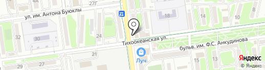 Долинский хлебокомбинат, ЗАО на карте Южно-Сахалинска