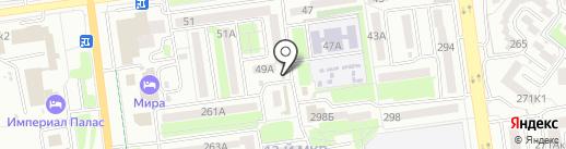 Магазин овощей и фруктов на карте Южно-Сахалинска
