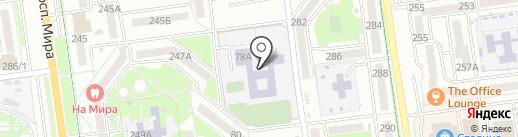 Средняя общеобразовательная школа №22 на карте Южно-Сахалинска