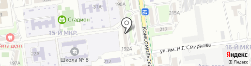 Содружество на карте Южно-Сахалинска