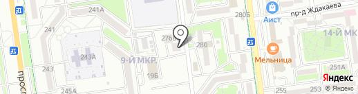 Инь-Янь на карте Южно-Сахалинска