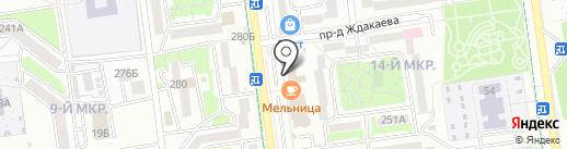 Заречное, ЗАО на карте Южно-Сахалинска
