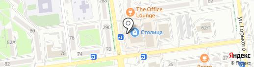 Буратино на карте Южно-Сахалинска