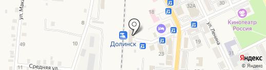 Железнодорожный вокзал на карте Долинска