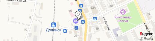 Банкомат, КБ Долинск на карте Долинска