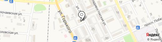 Клевер на карте Долинска