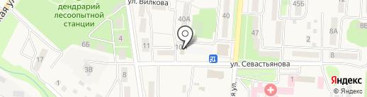 Магазин хозяйственных товаров на карте Долинска