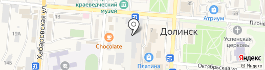 Нагиефф на карте Долинска