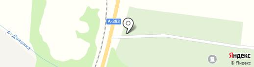 Кладбище г. Долинск на карте Долинска