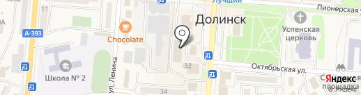 Платина на карте Долинска
