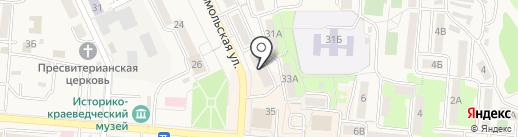 Оптика на карте Долинска