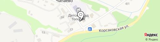Почтовое отделение на карте Чапаево