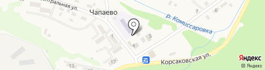 Корсаковская Центральная библиотека на карте Чапаево