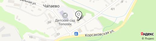 Совхоз Корсаковский, ГУСП на карте Чапаево