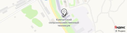Камчатский сельскохозяйственный техникум на карте Сосновки