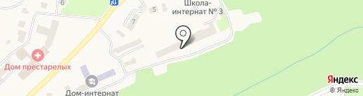 Школа-интернат №3 на карте Елизово
