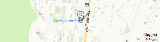 Центральный на карте Елизово