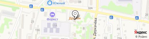 Дракон на карте Елизово
