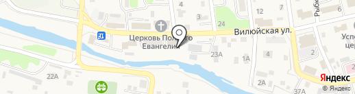 Леда на карте Елизово