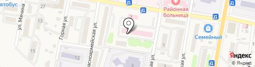Силуэт на карте Елизово