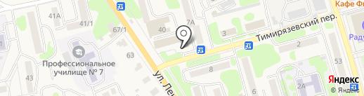 Луч на карте Елизово