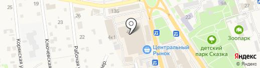 Молокозавод Петропавловский на карте Елизово