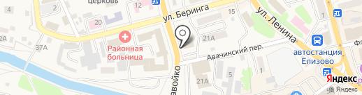 Аптека Миницен на карте Елизово