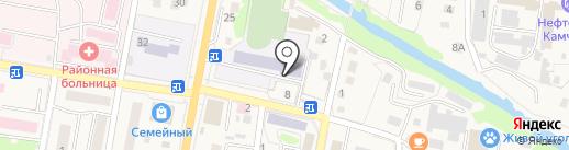 Средняя общеобразовательная школа №2 на карте Елизово