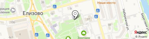 Детская библиотека на карте Елизово