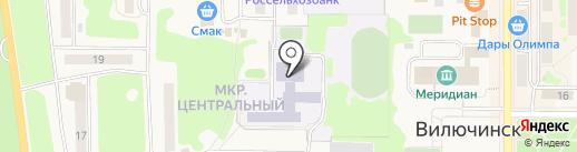 Средняя общеобразовательная школа №9 на карте Вилючинска