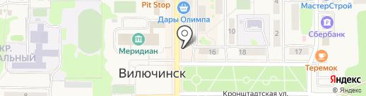 Близнецы на карте Вилючинска