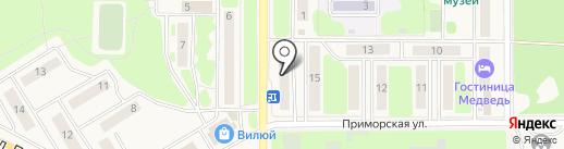 Стрекоза на карте Вилючинска