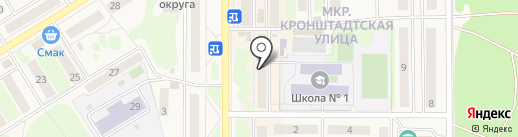 Якорь на карте Вилючинска