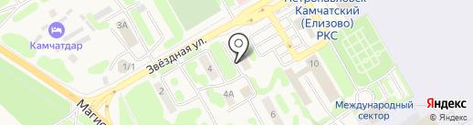 Привокзальная на карте Елизово