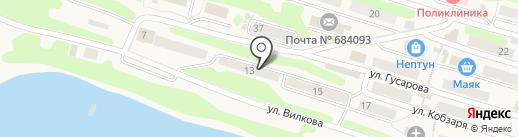 Студия макияжа Елизаветы Бруновой на карте Вилючинска