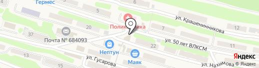 Гном на карте Вилючинска