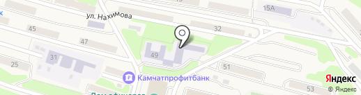 Средняя общеобразовательная школа №2 на карте Вилючинска