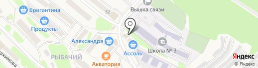 Омичка на карте Вилючинска