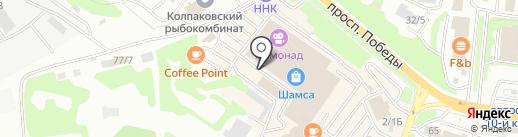 Парикмахерский магазин на карте Петропавловска-Камчатского
