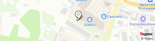 Милк на карте Петропавловска-Камчатского