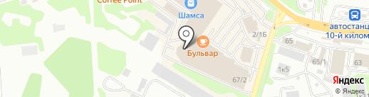 Камчатское авиационное предприятие на карте Петропавловска-Камчатского