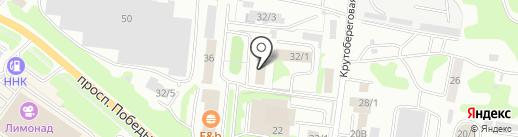 Юнаг-К на карте Петропавловска-Камчатского