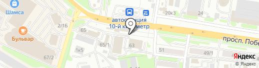 Юликс на карте Петропавловска-Камчатского