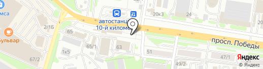 Пионерское на карте Петропавловска-Камчатского