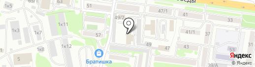 Вип моторс на карте Петропавловска-Камчатского