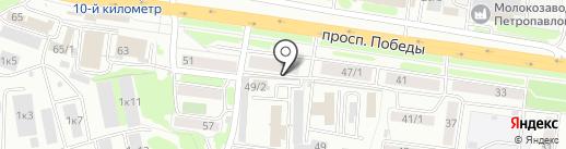 КодЭкс на карте Петропавловска-Камчатского